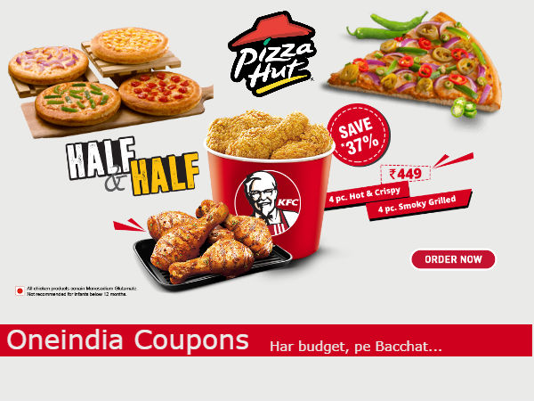 KFC Vs Pizza Hut Upto 50% Off on Orders*