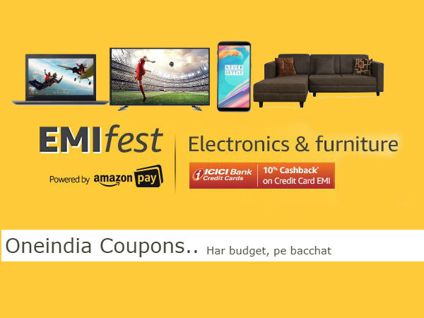 Amazon EMI Fest: Mobiles, TVs, Furniture at Rs.313/Month*