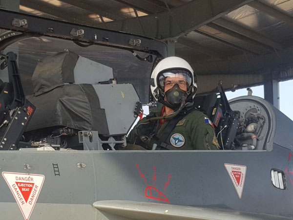 French Air Force chief General André Lanata takes sortie on Tejas
