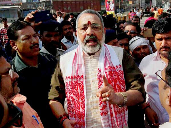 Giriraj Singh booked in land grabbing case