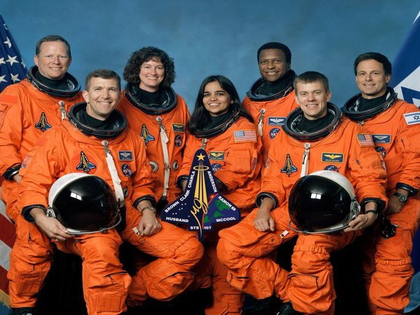 Crew members of Columbia space shuttle