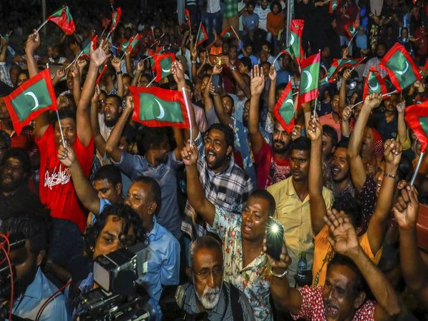 File photo of protests in Maldives