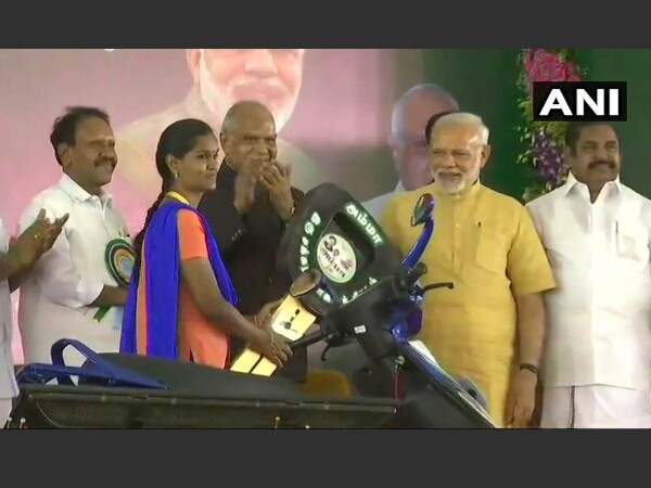 PM Modi launches two-wheeler scheme in Chennai