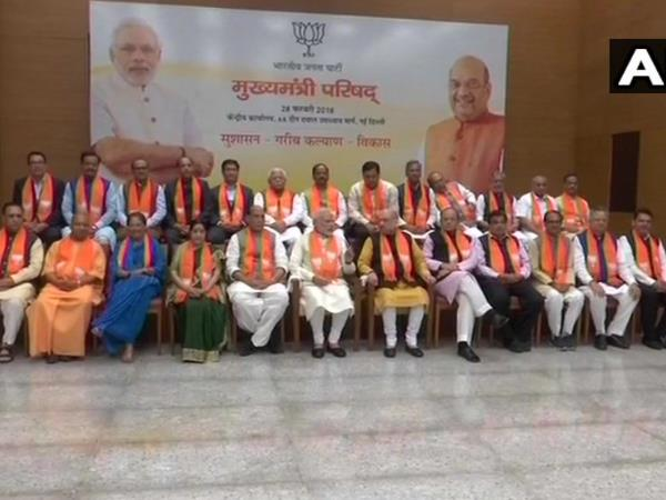 PM Modi with BJP chief ministers