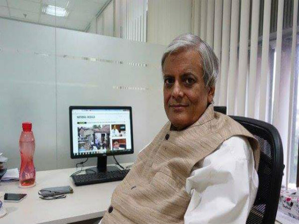 Senior Journalist, Editor-In-Chief Of National Herald Neelabh Mishra Dies