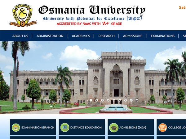 Osmania University BA, BSc, BCom December 2017 results date announced