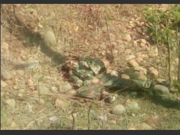 Body of the terrorist killed in Sunjuwan attack