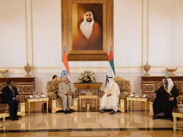 PM Modi holds delegation level meeting in UAE