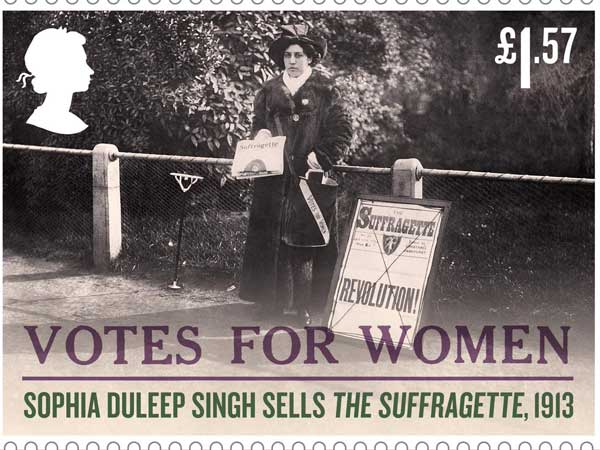 100 years of women suffrage: Indian princess on Royal Mail stamp