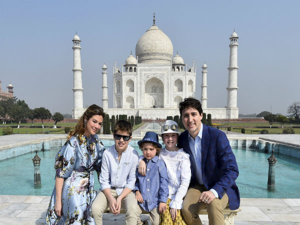 Canadian PM in India: Justin Trudeau visits iconic Taj Mahal with family