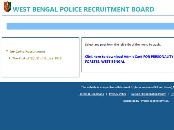 West Bengal Police Recruitment 2018: How to apply for post of SI of excise