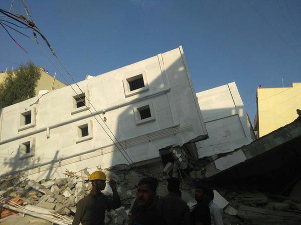 Three dead, several feared trapped as building collapses in Karnataka's Bellandur