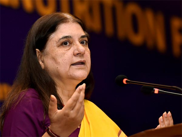 Union Minister Maneka Gandhi uses cussword on officer in UP's Bareilly