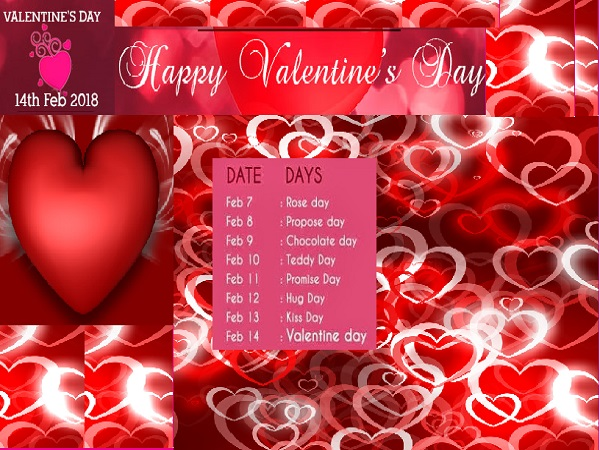 The Seven Days Before The Valentineu0027s Day Is Known As Valentine Week.