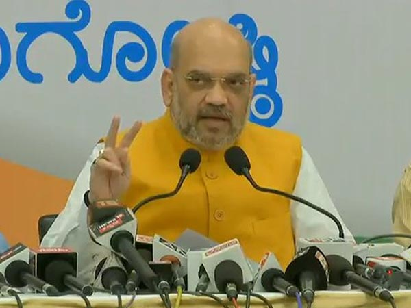 BJP President Amit Shah addressing press conference in Mysore. Courtesy: ANI news