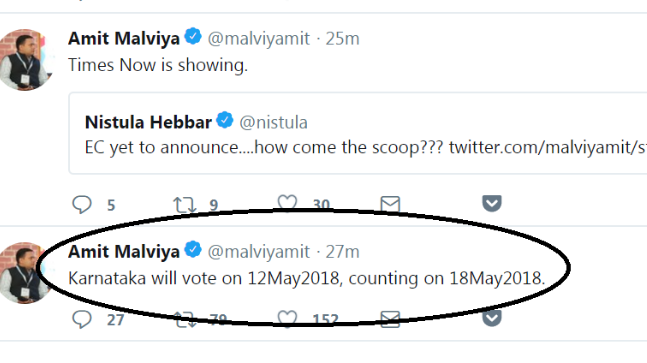 BJP IT Cell chief Amit Malviya Tweets