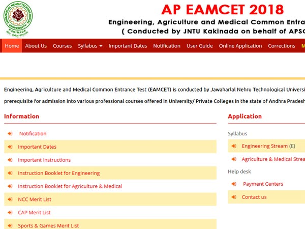 APEAMCET 2018 official notification released: All details here