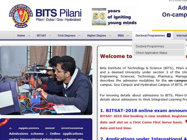 Bitsat online slot booking 2019