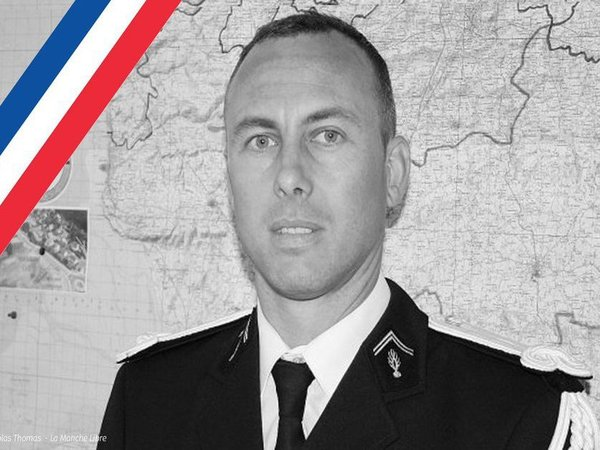 French police officer Col Arnaud Beltrame. Courtesy: @gerardcollomb