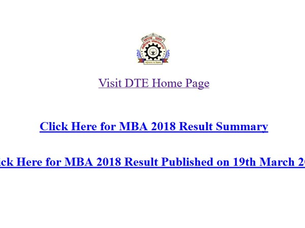 DTE MCA CET 2018 Results declared, steps to check