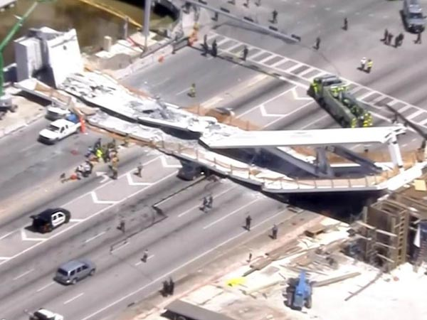 Florida university bridge collapses: Several fatalities feared
