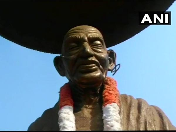 Gandhi statue damaged in Kannur, police detain mentally unstable man