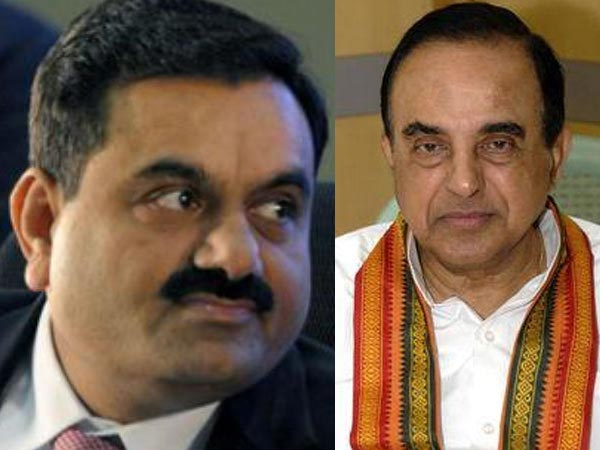 Gautam Adani and Subramanian Swamy