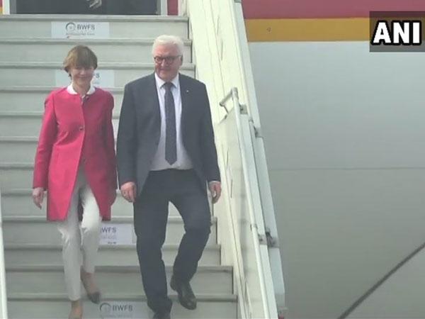 German President Frank-Walter Steinmeier arrives in New Delhi