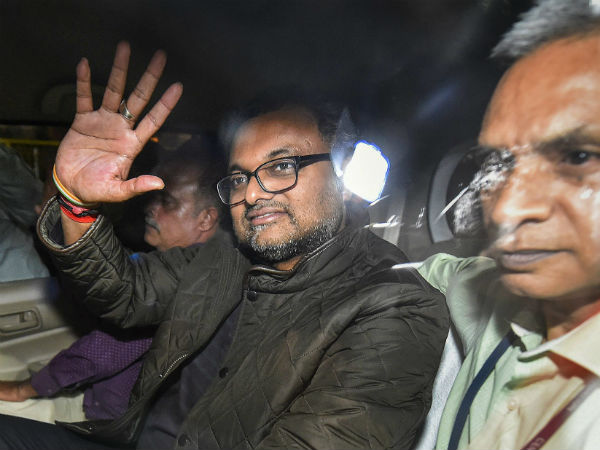 Karti Chidambaram sent to Tihar jail till March 24