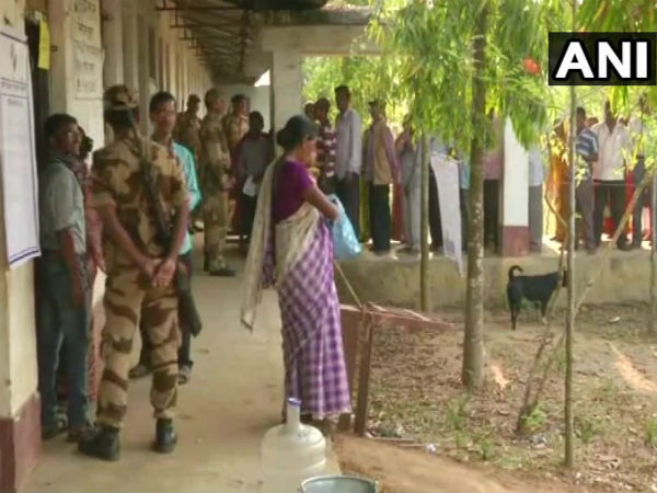 Polling in Charilam seat