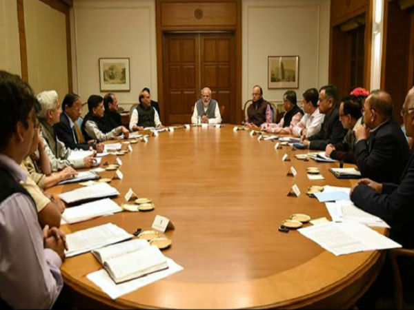 File photo of a Union Cabinet meeting