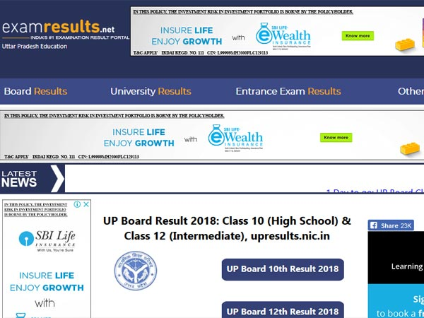 UP Board Result 2018 date: Check on this day for Class 10 ...