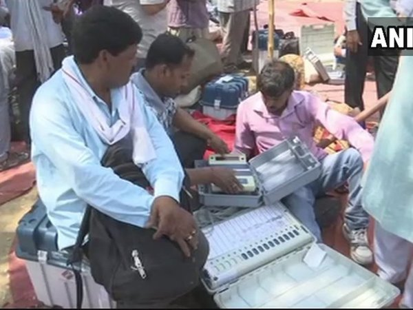 Visuals of preparation for by-poll in Gorakhpur; Phulpur and Gorakhpur to undergo voting tomorrow. Courtesy: ANI news