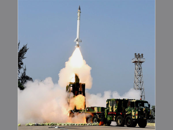 File photo of Advanced Air Defence or AAD interceptor being fired