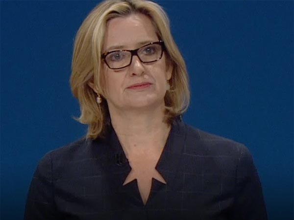 Great Britains Home Secretary Amber Rudd