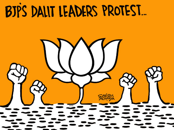 Several Dalit leaders from the BJP have spoken against the partys stand in matters related to the marginalised community.