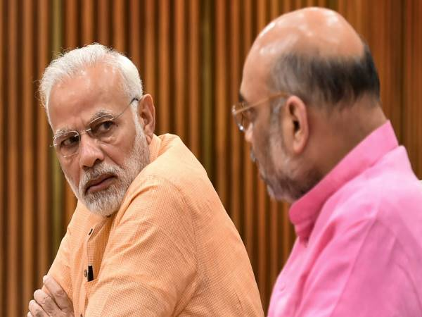 PM Modi and BJP chief Amit Shah at CEC meet