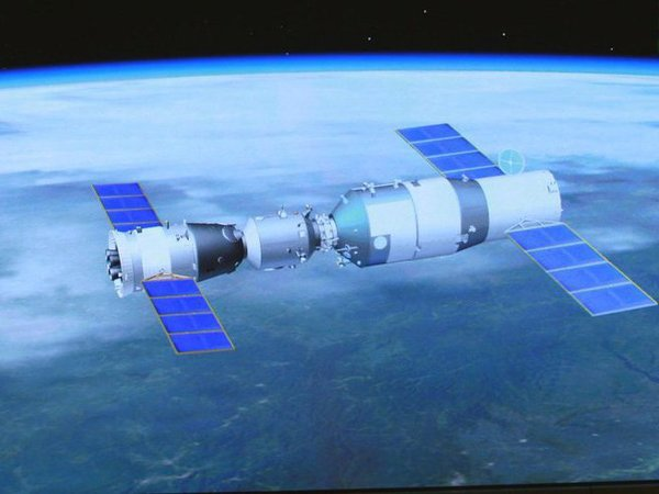 Chinese space lab crashes in Pacific ocean. Courtesy: @XHNews
