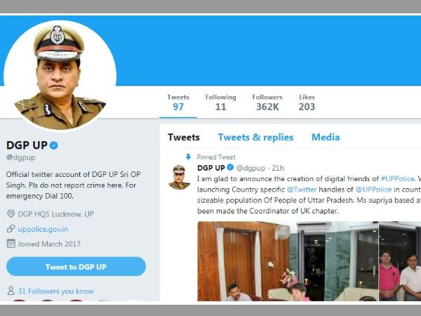 Class 10 Boy creates UP DGPs fake twitter handle, asks cops to probe on brothers case
