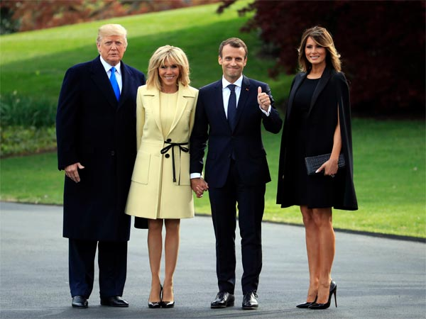 Trumps To Host Macrons Over First State Dinner Today Oneindia News
