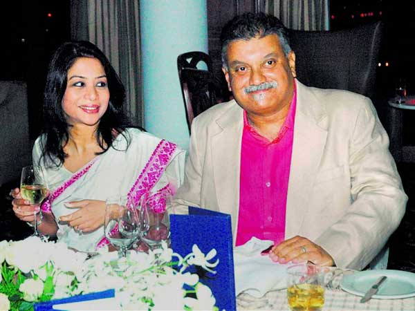 Indrani mukerjea along with her husband Peter