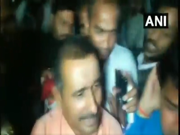 BJP MLA Kuldeep Sengar outside SSPs office
