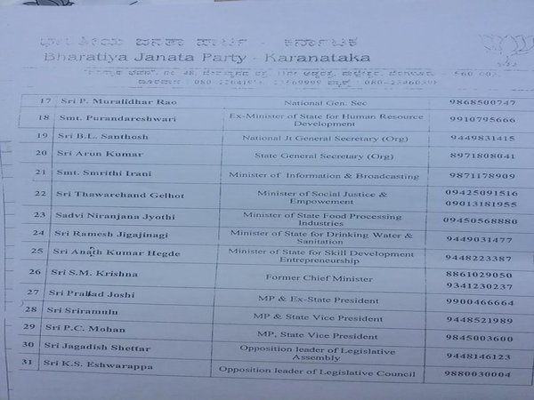 BJP star campaigners list (Page 2)