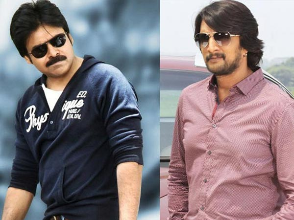 Pawan Kalyan and Sudeep