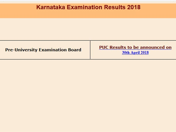 Karnataka PUC results 2018 declared, how to check