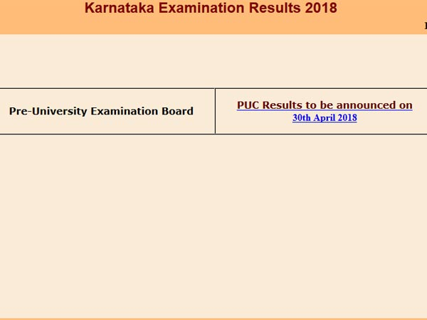 Karnataka PUC results 2018 to be declared today at this time