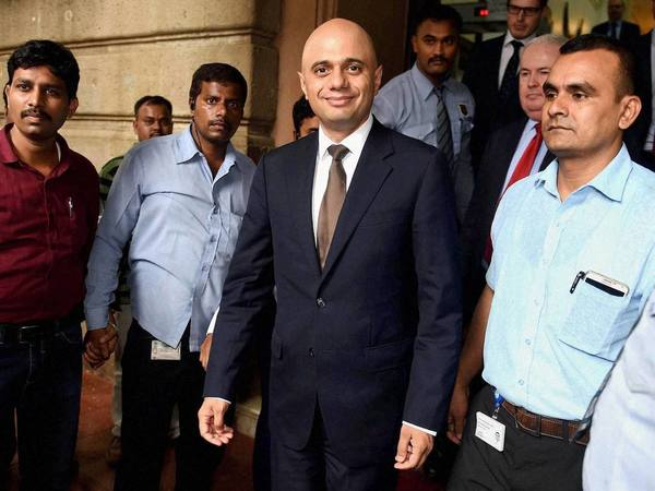 File photo of Sajid Javid in Mumbai