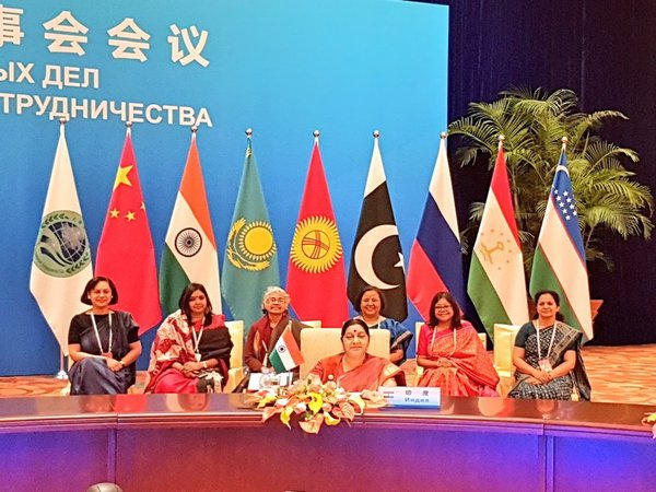 EAM Swaraj at SCO meeting