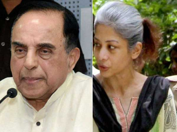 Indrani, the key witness against Chidambaram and son, poisoned in jail, says Subramanian Swamy