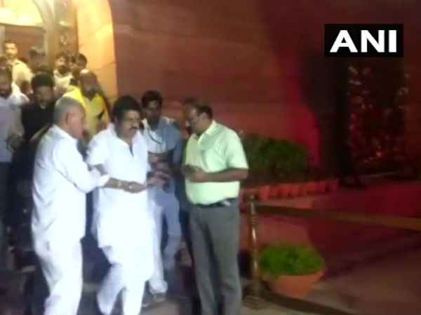 TDP MPs occupy Rajya Sabha even after day's adjournment